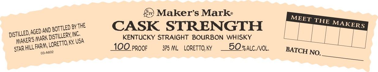 Makers Mark Cask Strength Bourbon
