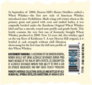 PHC wheat whiskey
