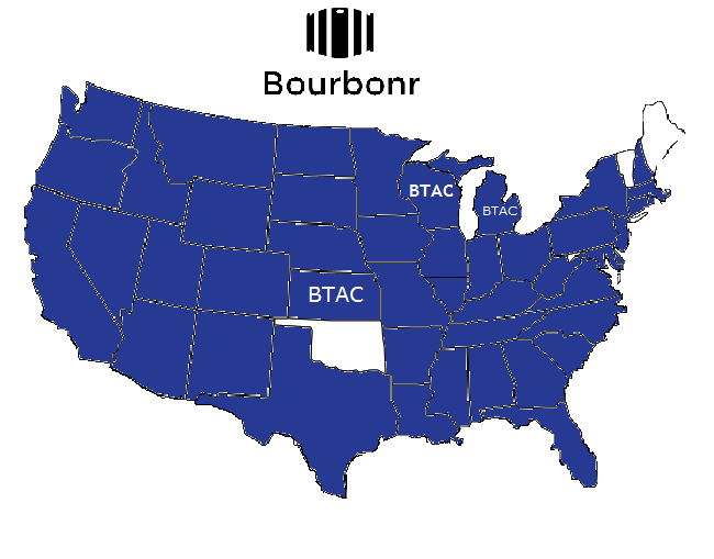 2014 Buffalo Trace Antique Collection Release Map
