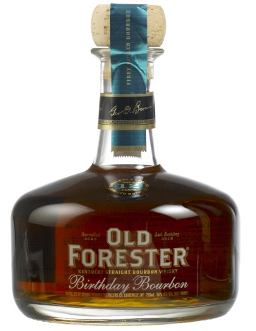 2015 Old Forester Birthday Bourbon bottle