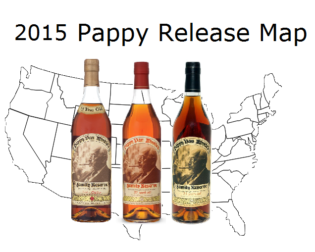 34906ae5b2 2015 Pappy Van Winkle Release Map – Blog