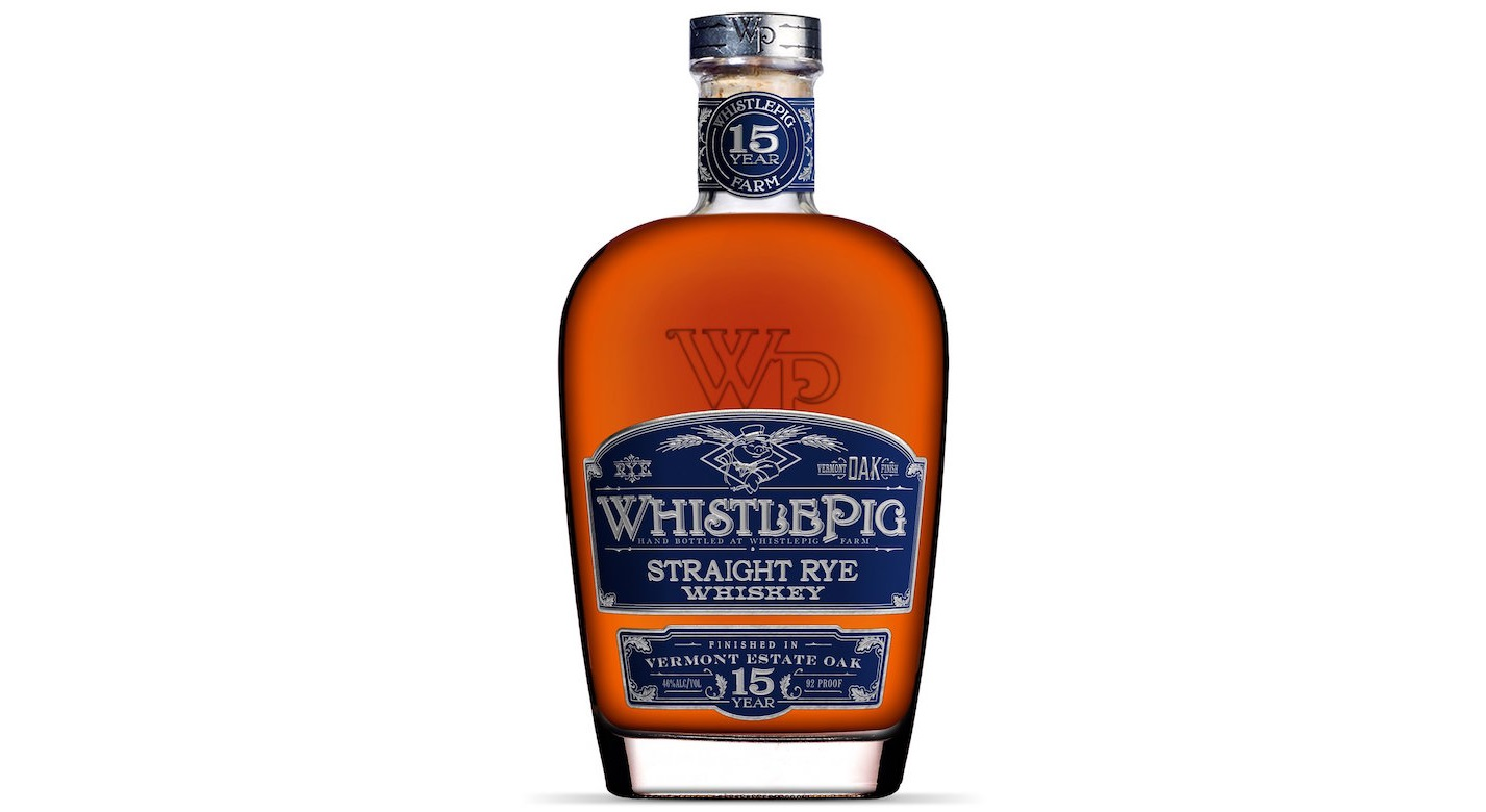 WhistlePig 15 year vermont estate oak rye