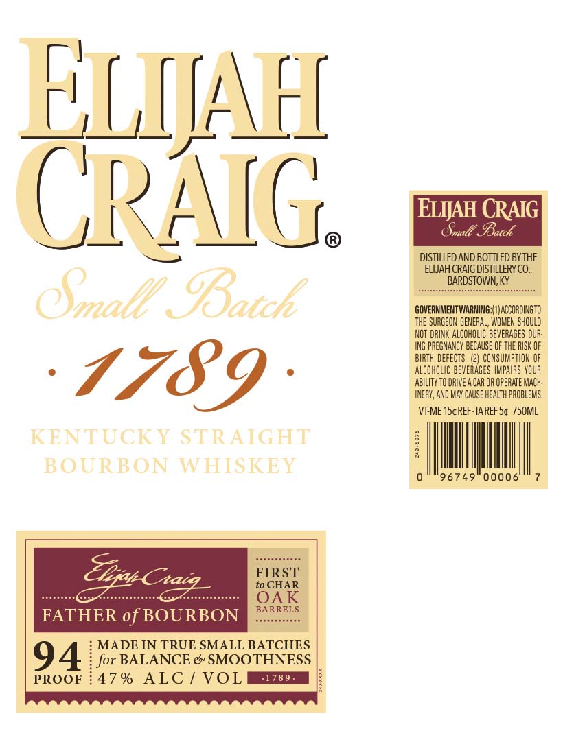 Elijah Craig 1789 small batch