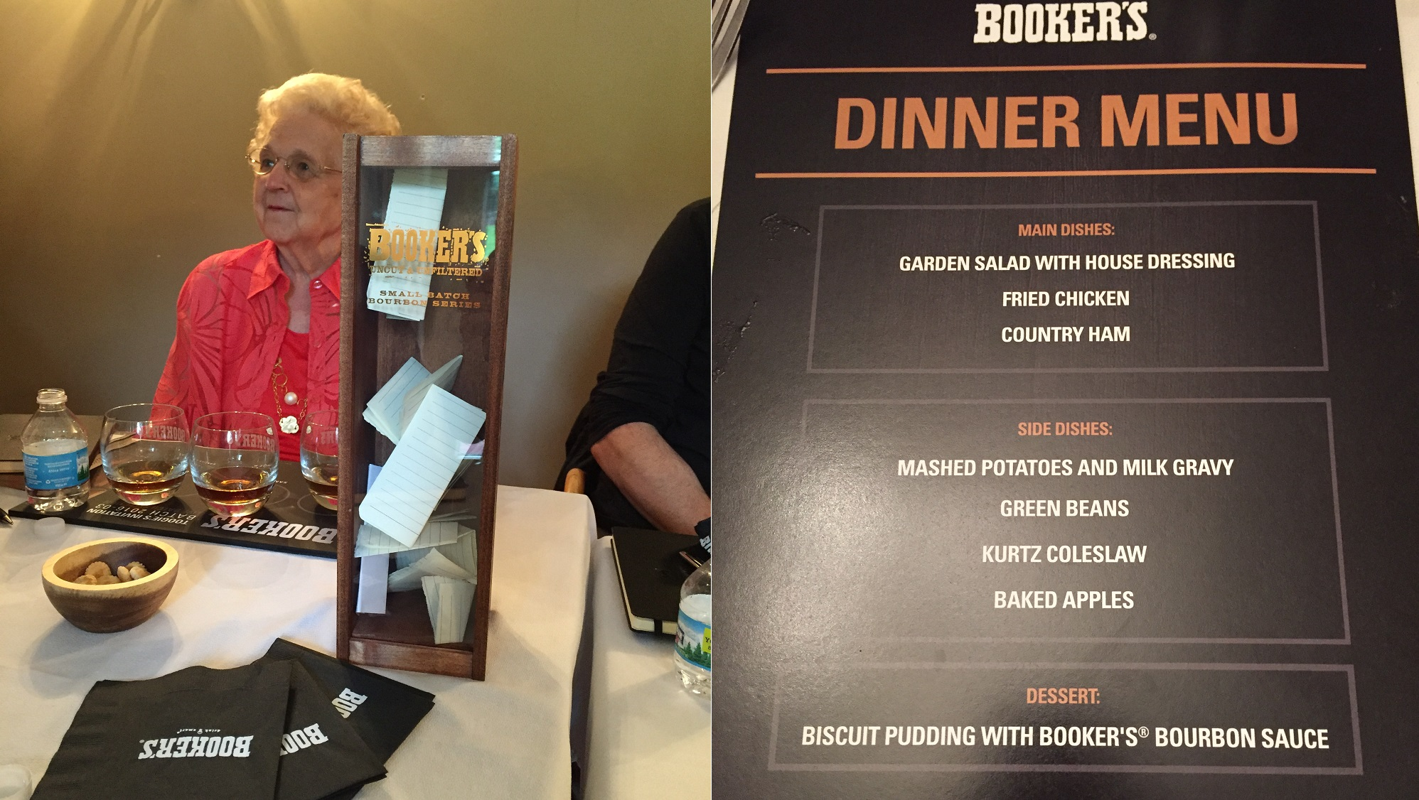 Bookers dinner